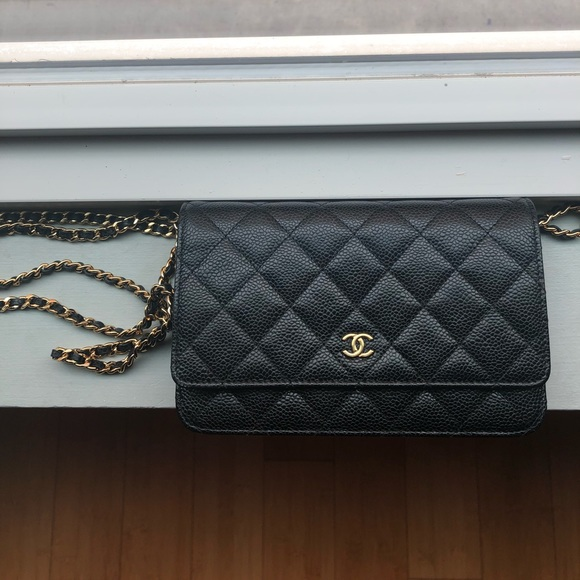 bb8d6a8f7e07 CHANEL Handbags - Quilted Black Chanel WOC with Gold Hardware
